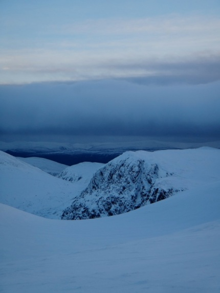 Views in to Carn Etchachan, looking good.